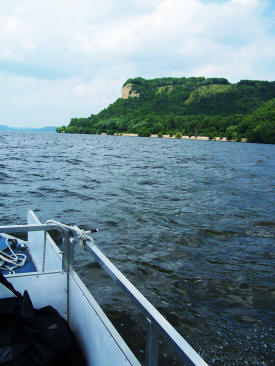 Haunted Maiden Rock off of Lake Pepin